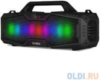 Колонки Sven PS-480, (2.0, мощность 2x12 Вт (RMS), Bluetooth, FM, USB, microSD, LED-дисплей, встроенный аккумулятор)
