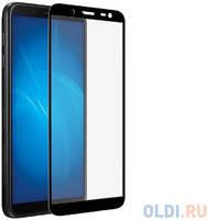 Закаленное стекло с цветной рамкой (fullscreen) для Samsung Galaxy J8 (2018) DF sColor-52 (black)