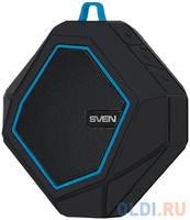 Колонки Sven PS-77, -синий,1.0, 5 Вт (RMS), Wateproof (IPx5), Bluetooth, microSD, FM-тюнер, встроенный аккумулятор 5 Вт, 120-20000 Гц, Bluetooth
