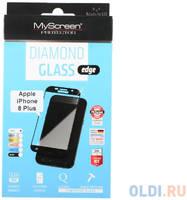 Защитное стекло Lamel 2,5D MyScreen LITE Glass edge White для iPhone 8 Plus MD2827TG FCOV WHIT8+