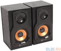Колонки Oklick OK-162 2.0 dk.wooden dark 8W портативные