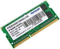 Оперативная память для ноутбуков SO-DIMM DDR3 4Gb (pc-12800) 1600MHz 1.35V Patriot