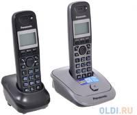 Телефон DECT Panasonic KX-TG2512RU1 АОН, Caller ID 50, 10 мелодий, Спикерфон, Эко-режим, + дополнительная трубка