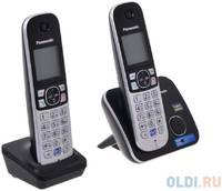 Телефон DECT Panasonic KX-TG6812RUB АОН, Caller ID 50, Спикерфон, Эко-режим, Радионяня, + дополнительная трубка