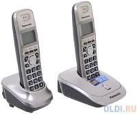 Телефон DECT Panasonic KX-TG2512RUN АОН, Caller ID 50, 10 мелодий, Спикерфон, Эко-режим, + дополнительная трубка