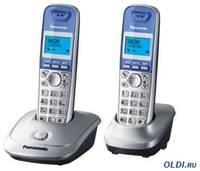 Телефон DECT Panasonic KX-TG2512RUS АОН, Caller ID 50, 10 мелодий, Спикерфон, Эко-режим, + дополнительная трубка