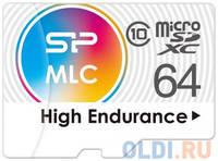 Флеш карта microSD 64GB Silicon Power High Endurance microSDXC Class 10 UHS-I U3 (SD адаптер), MLC
