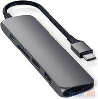 Адаптер USB Type-C Satechi ST-UCSMA3S HDMI 3 х USB 3.0 microSD RJ-45