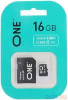 16GB карта памяти ONE MicroSDHC UHS-I Class 10 15/10 MB/s + SD adapter