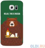 Чехол Deppa Art Case и защитная пленка для Samsung Galaxy S6, Патриот_Медведь