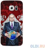 Чехол Deppa Art Case и защитная пленка для Samsung Galaxy S6 edge, Person_Путин карта мира