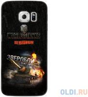 Чехол Deppa Art Case и защитная пленка для Samsung Galaxy S6 edge, Танки_Зверобой