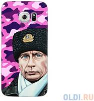 Чехол Deppa Art Case и защитная пленка для Samsung Galaxy S6 edge, Person_Путин шапка