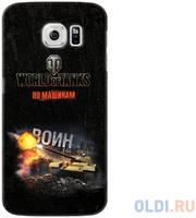 Чехол Deppa Art Case и защитная пленка для Samsung Galaxy S6, Танки_Воин