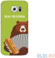 Чехол Deppa Art Case и защитная пленка для Samsung Galaxy S6, Патриот_Медведь гармонь