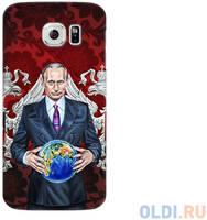 Чехол Deppa Art Case и защитная пленка для Samsung Galaxy S6, Person_Путин карта мира