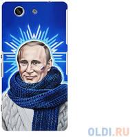 Чехол Deppa Art Case и защитная пленка для Sony Xperia Z3 Compact, Person_Путин звезда
