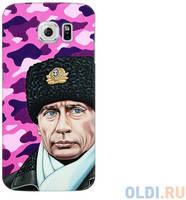 Чехол Deppa Art Case и защитная пленка для Samsung Galaxy S6, Person_Путин шапка