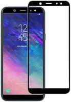 КАРКАМ Защитное стекло для Samsung A7 (2018) с рамкой 9H Full Glue