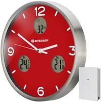 Часы настенные Bresser (Брессер) MyTime io NX Thermo/Hygro, 30 см, красные