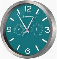 Часы настенные Bresser (Брессер) MyTime ND DCF Thermo/Hygro, 25 см, бирюзовые