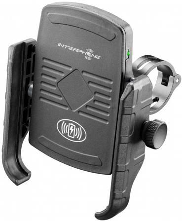 Мото краб Interphone (универсальный) с беспроводной зарядкой для смартфонов, на трубчатый руль