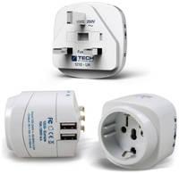 Сетевой адаптер-переходник Travel EU-to-UK с USB (948)