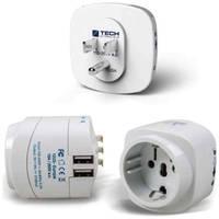 Сетевой адаптер-переходник Travel EU-to-USA с USB (945)
