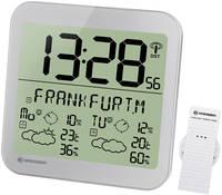 Часы настенные Bresser MyTime Meteotime LCD, серебристые
