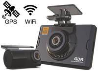 Видеорегистратор с двумя камерами GNet GDR WIFI+GPS