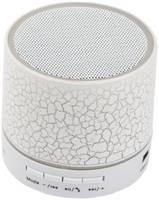 Колонка беспроводная Bluetooth «LP» LP-S08 MicroSD/USB/AUX/Радио/LED подсветка (белая)