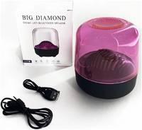 Беспроводная портативная акустическая система Big Diamond, Bluetooth колонка с умной подсветкой, глубокий звук