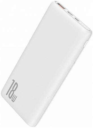 Аккумулятор внешний Baseus 10000mAh 18W PD+QC Quick Charge Portable Power Bank - White