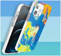 Чехол Kingxbar Watercolour для iPhone 12 Pro Max и Kingxbar IP 12/12 Pro Max Watercolour Series-Yellow &