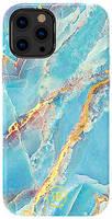 Чехол Kingxbar Marble для iPhone 12/12 Pro Kingxbar 12/12 Pro Marble Series-Blue