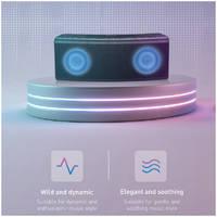 Портативная акустика Baseus Encoc E08 Music-cube с подсветкой Черная NGE08-01