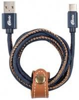 Кабель USB Ritmix RCC-437 Jeans синий
