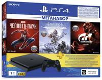 Игровая приставка Sony PlayStation 4 1TB F Gran Turismo/Horizon Zero Dawn/Spider Men/PS+ 3 мес.