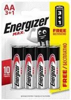 Батарейка Energizer Max AA блистер 3+1 шт.