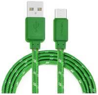 Кабель USB CROWN CMCU-3052C зелёный