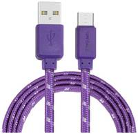 Кабель USB CROWN CMCU-3052M фиолетовый