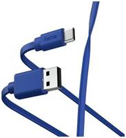 Кабель USB Hama 00187229 USB Type-C USB A(m) 1м синий плоский