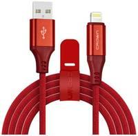 Кабель USB CROWN CMCU-3103L красный