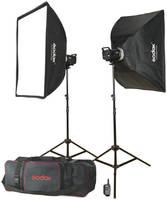Комплект студийного света Godox MS200-F, 2х200 Дж