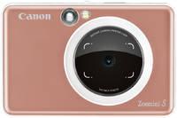 Камера и принтер моментальной печати Canon Zoemini S розовое
