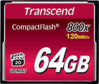 Карта памяти TRANSCEND CompactFlash 64GB 800x