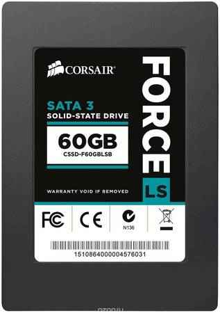 SSD диск Corsair Force 60GB (CSSD-F60GBLSB) SSD-накопитель