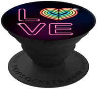 Кольцо-держатель Popsockets Neon Love (101552)