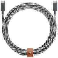 Кабель Native Union Belt Cable, USB Type С - USB Type C, 2,4 м, Zebra (BELT-KV-C-ZEB)