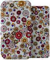 Чехол-книжка + обложка на паспорт FashionTouch для Honor 7A, полиуретан, ″цветы″